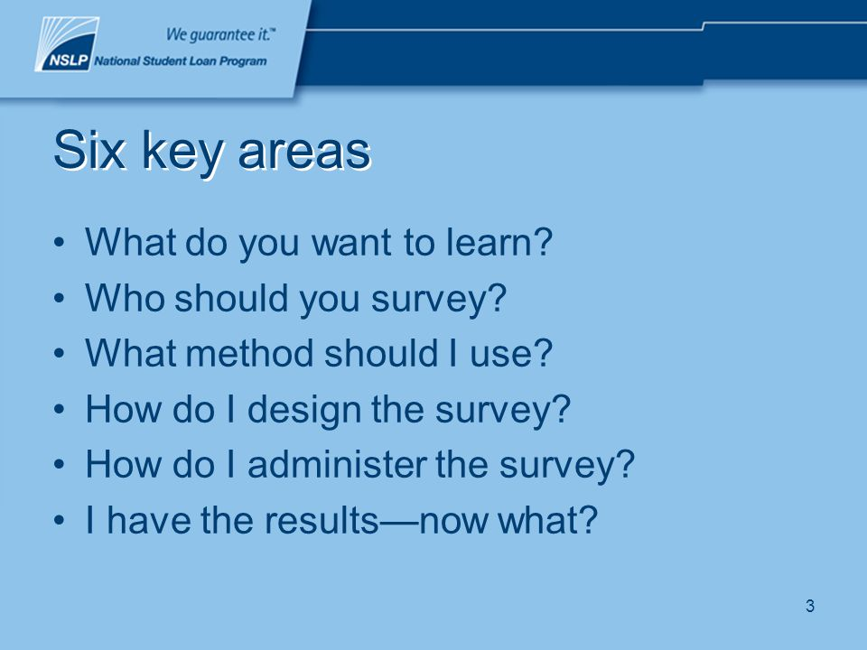 4 What do I want to learn from the survey? Purpose Plan Brainstorm Be efficient