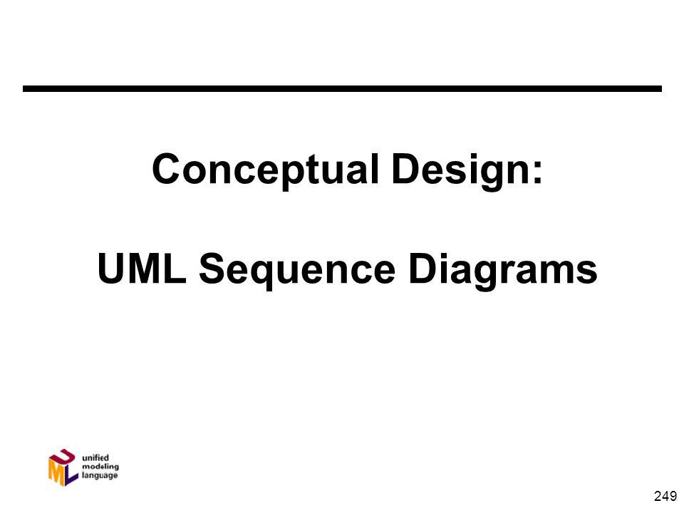 249 Conceptual Design: UML Sequence Diagrams
