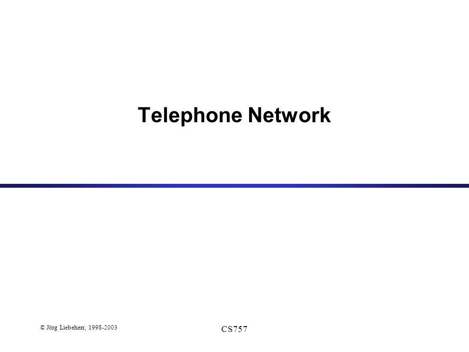 © Jörg Liebeherr, 1998-2003 CS757 Telephone Network
