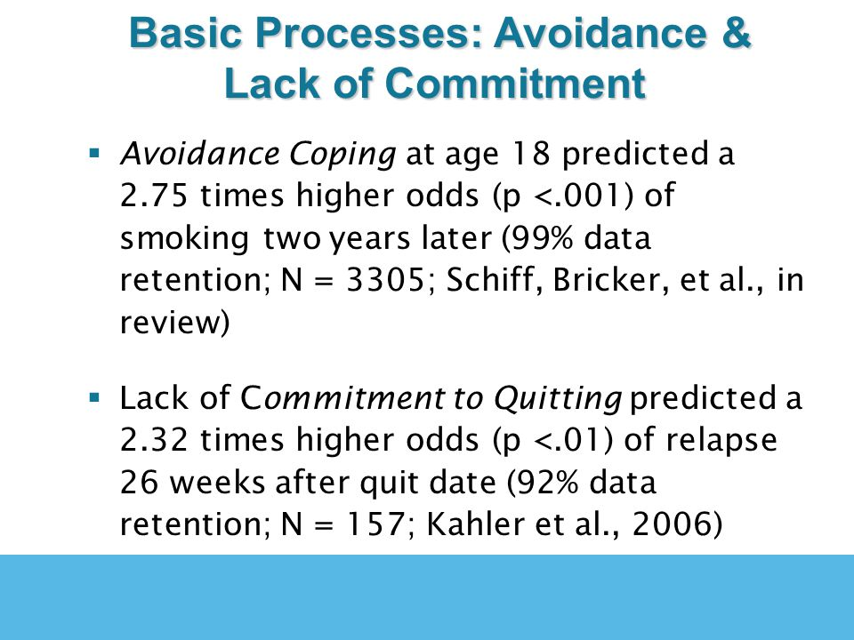 Acceptance & Commitment Therapy Directly Targets These Basic Processes