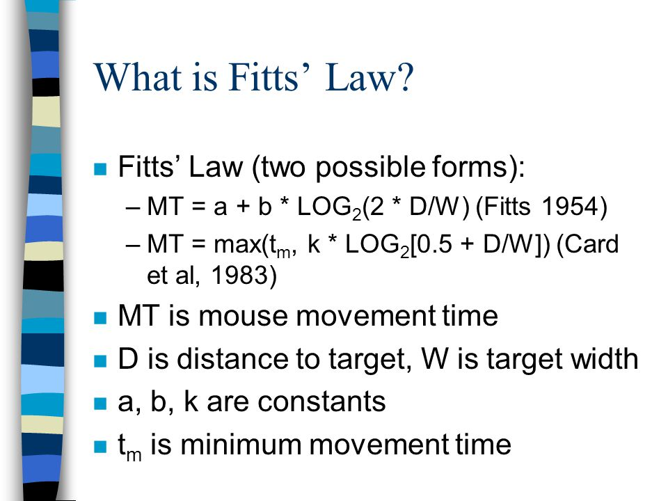 What is Fitts Law.