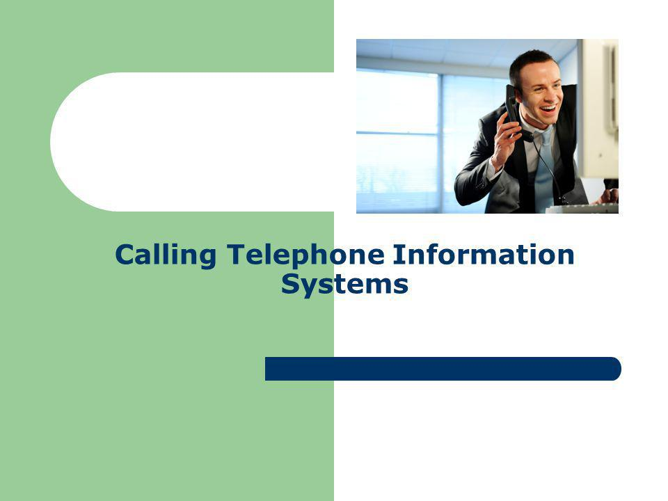Who uses telephone information systems.