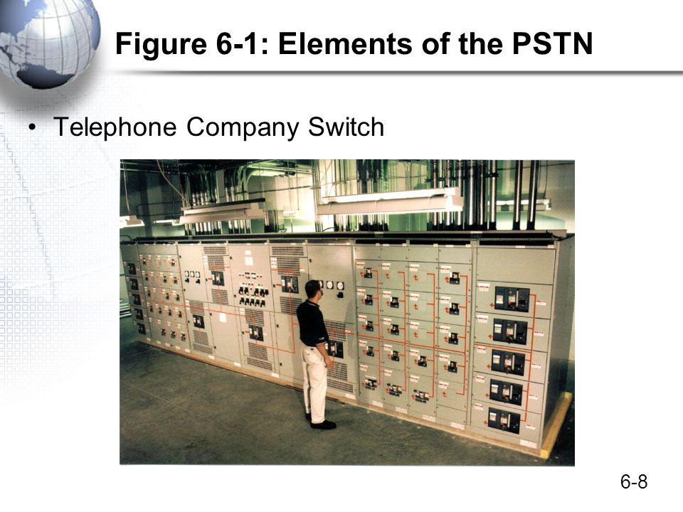 6-9 Figure 6-1: Elements of the Public Switched Telephone Network (PSTN) 4.
