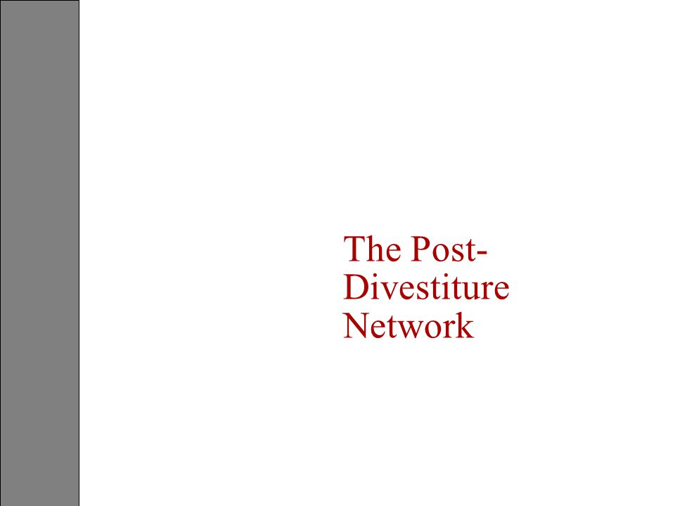 The Post- Divestiture Network