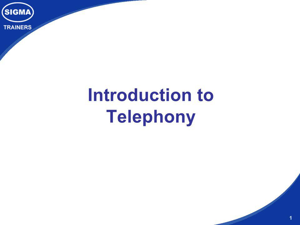 1 Introduction to Telephony