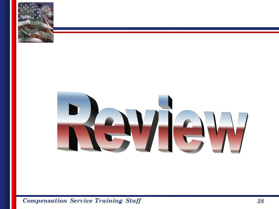 Compensation Service Training Staff 38