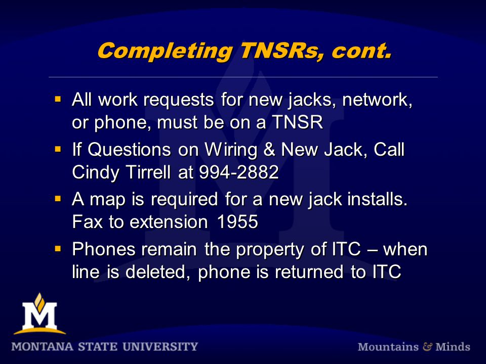 TNSR Example