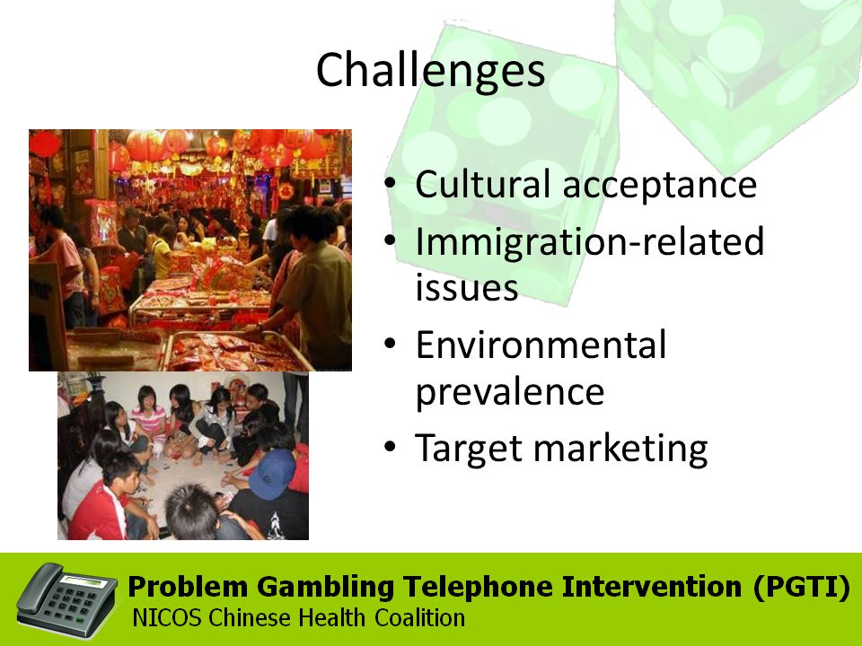 Challenges Cultural acceptance Immigration-related issues Environmental prevalence Target marketing