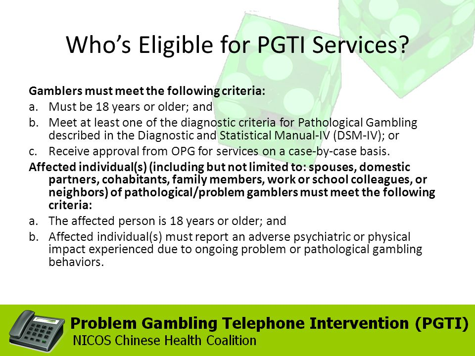 Whos Eligible for PGTI Services.