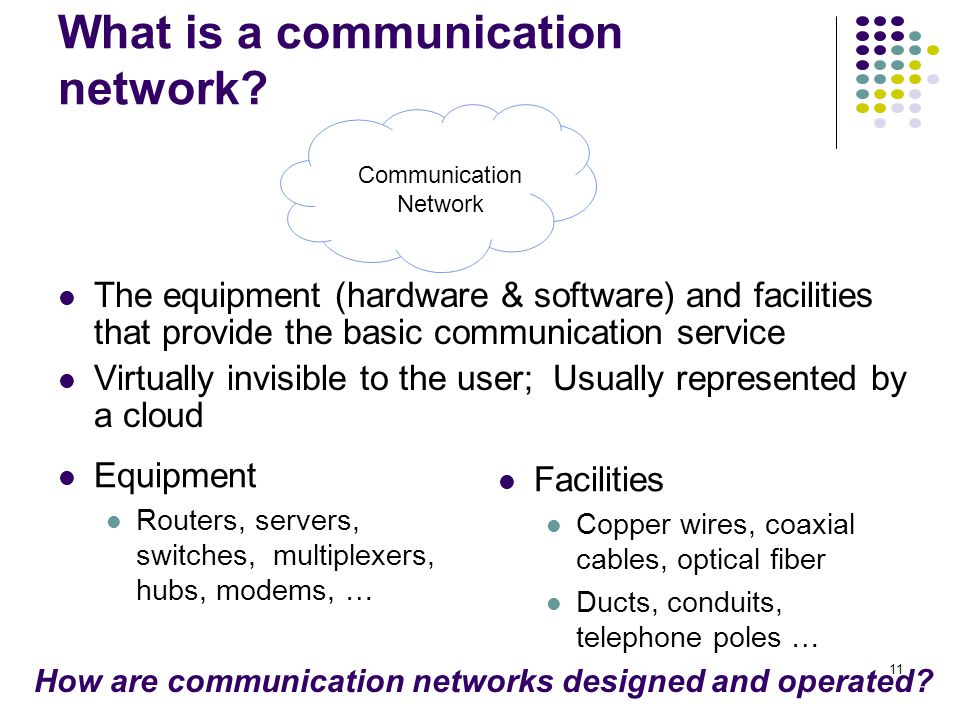 11 What is a communication network.