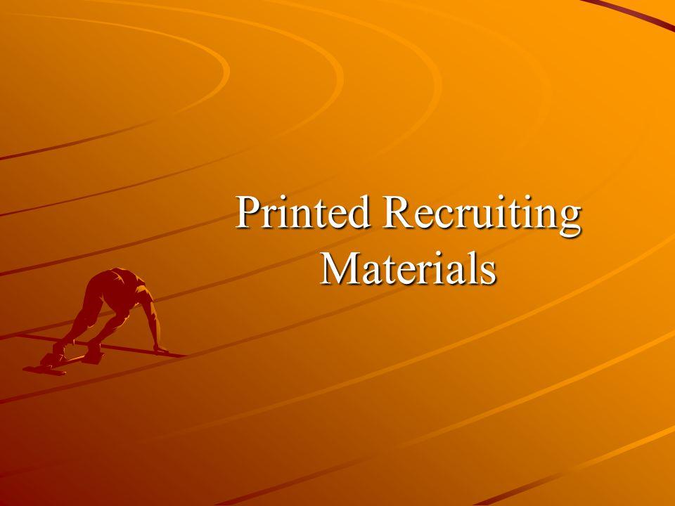 Printed Recruiting Materials