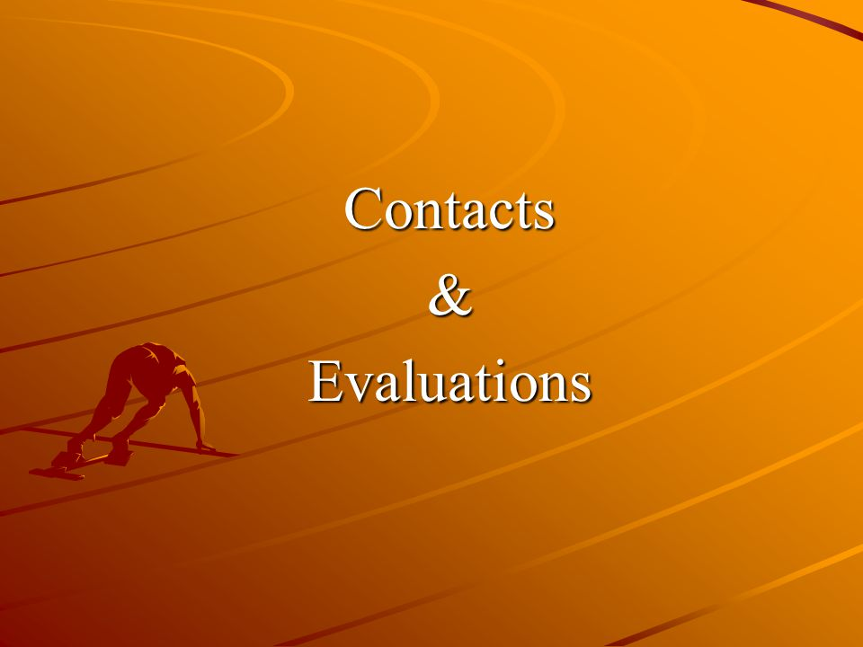Contacts&Evaluations