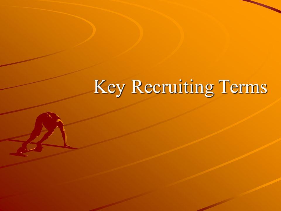 Key Recruiting Terms
