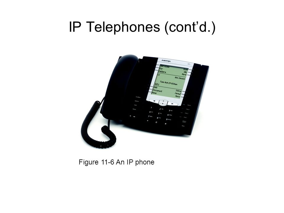 IP Telephones (contd.) Figure 11-6 An IP phone