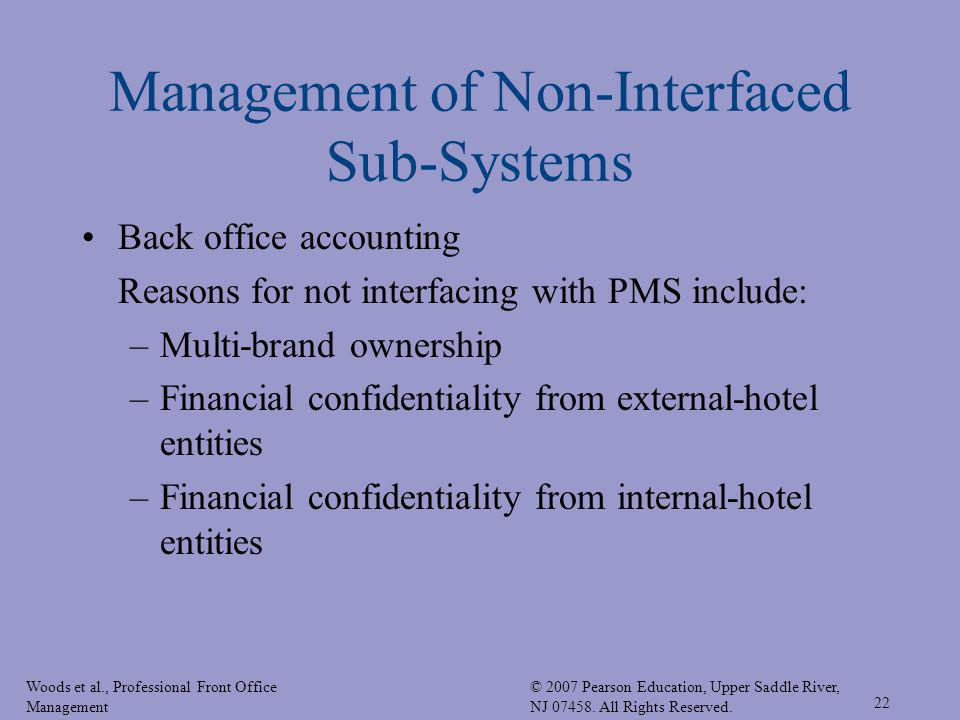 Woods et al., Professional Front Office Management © 2007 Pearson Education, Upper Saddle River, NJ 07458. All Rights Reserved. 22 Management of Non-I