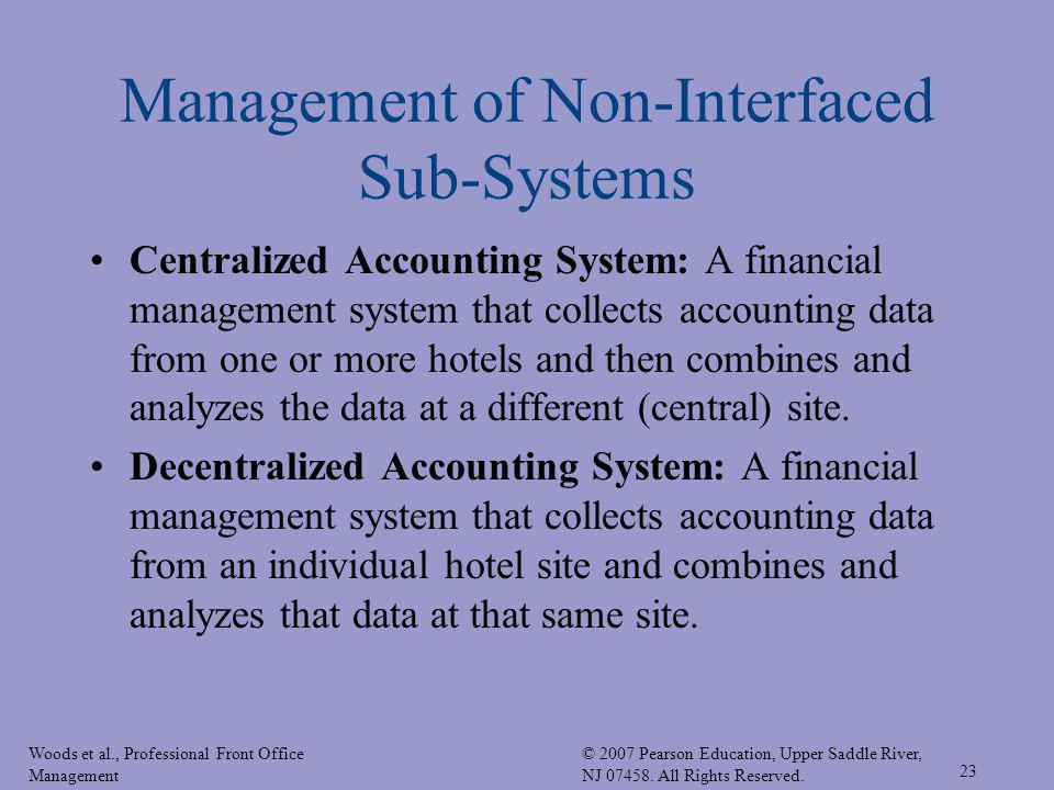 Woods et al., Professional Front Office Management © 2007 Pearson Education, Upper Saddle River, NJ 07458. All Rights Reserved. 23 Management of Non-I