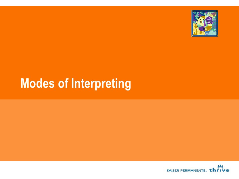 Modes of Interpreting