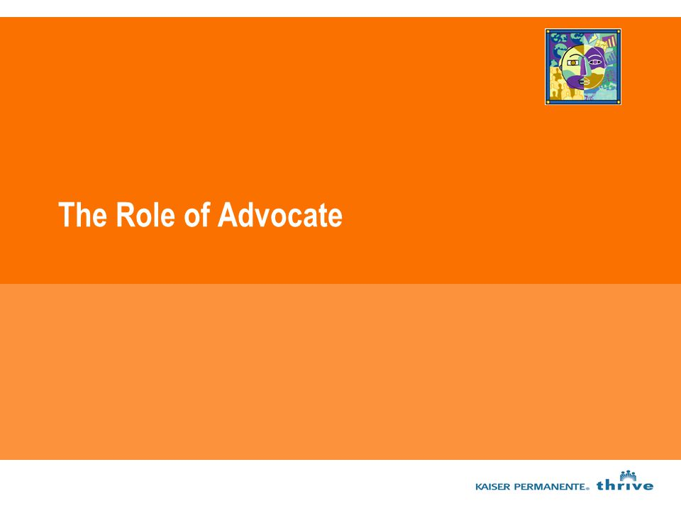 The Role of Advocate