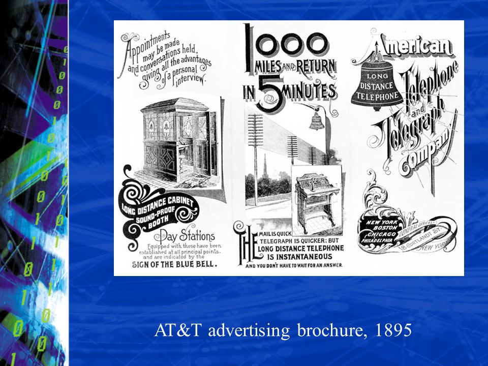 AT&T advertising brochure, 1895
