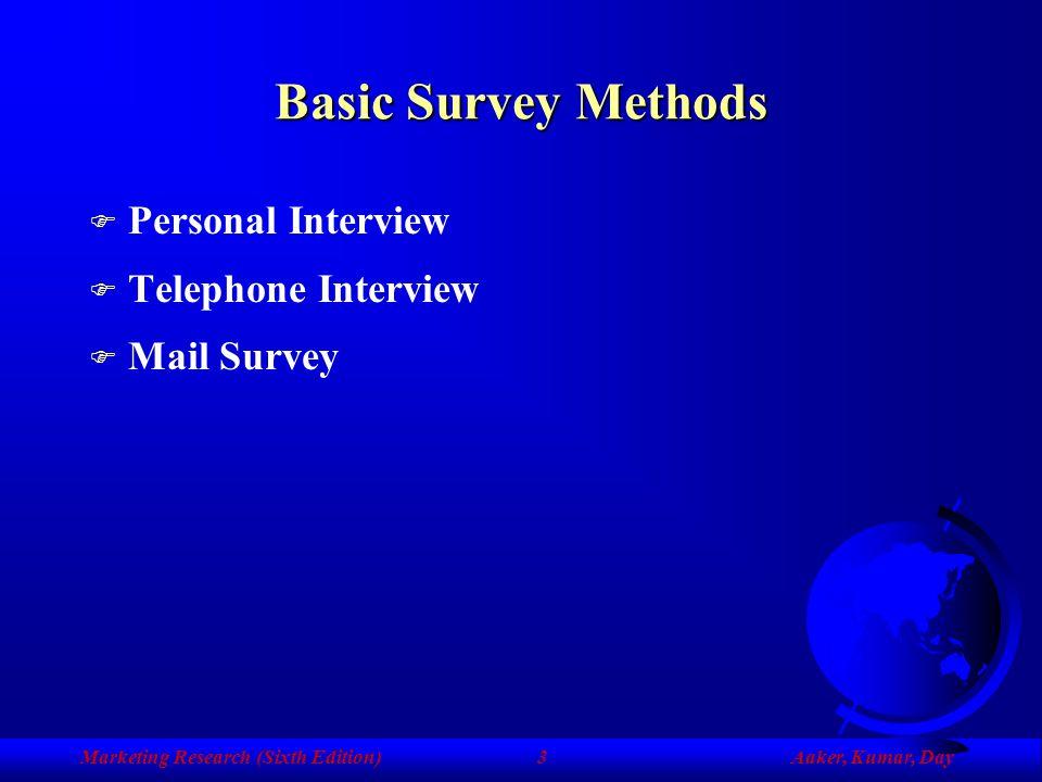 Chapter Ten Information from Respondents: Survey Methods