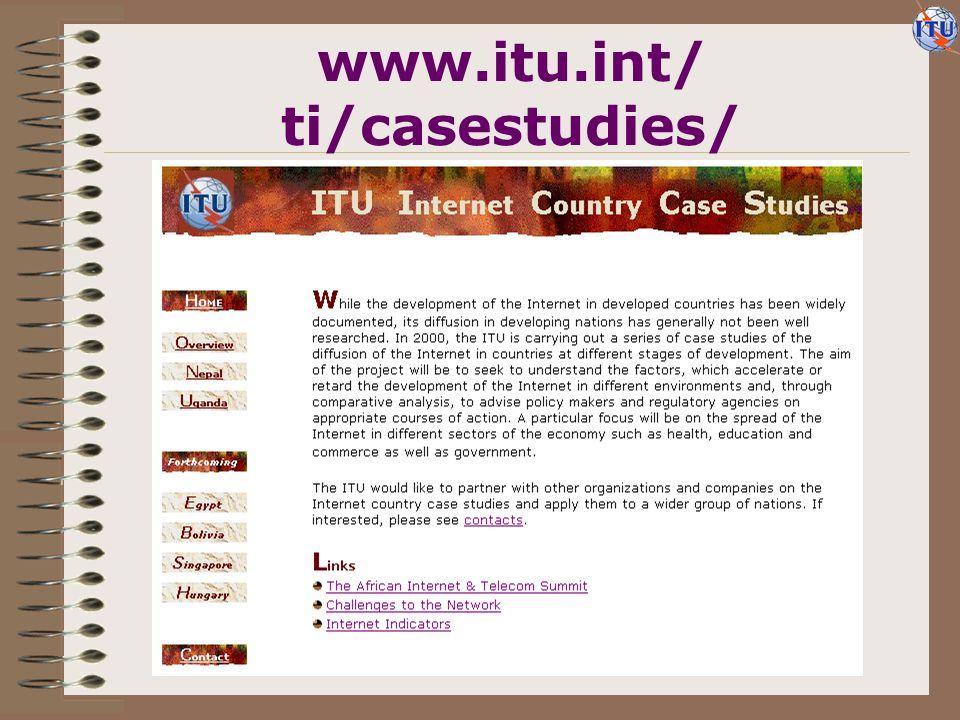 www.itu.int/ ti/casestudies/