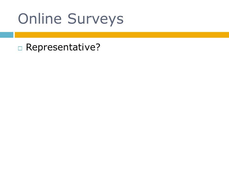 Online Surveys Representative?