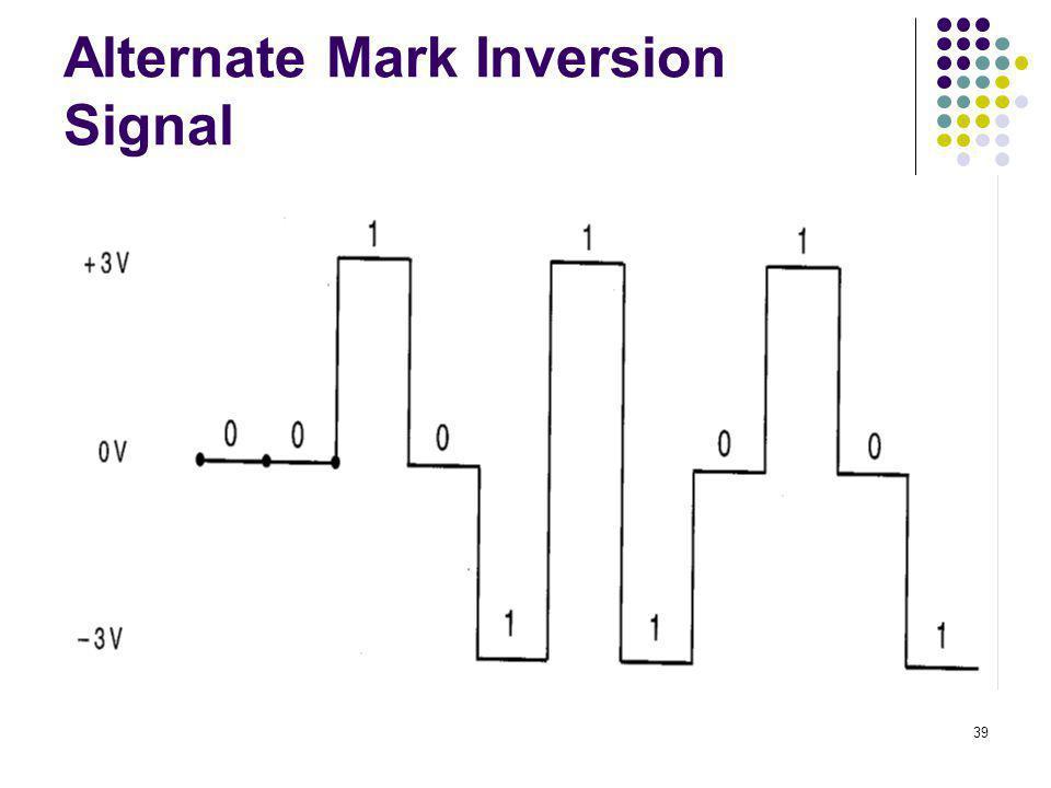 39 Alternate Mark Inversion Signal