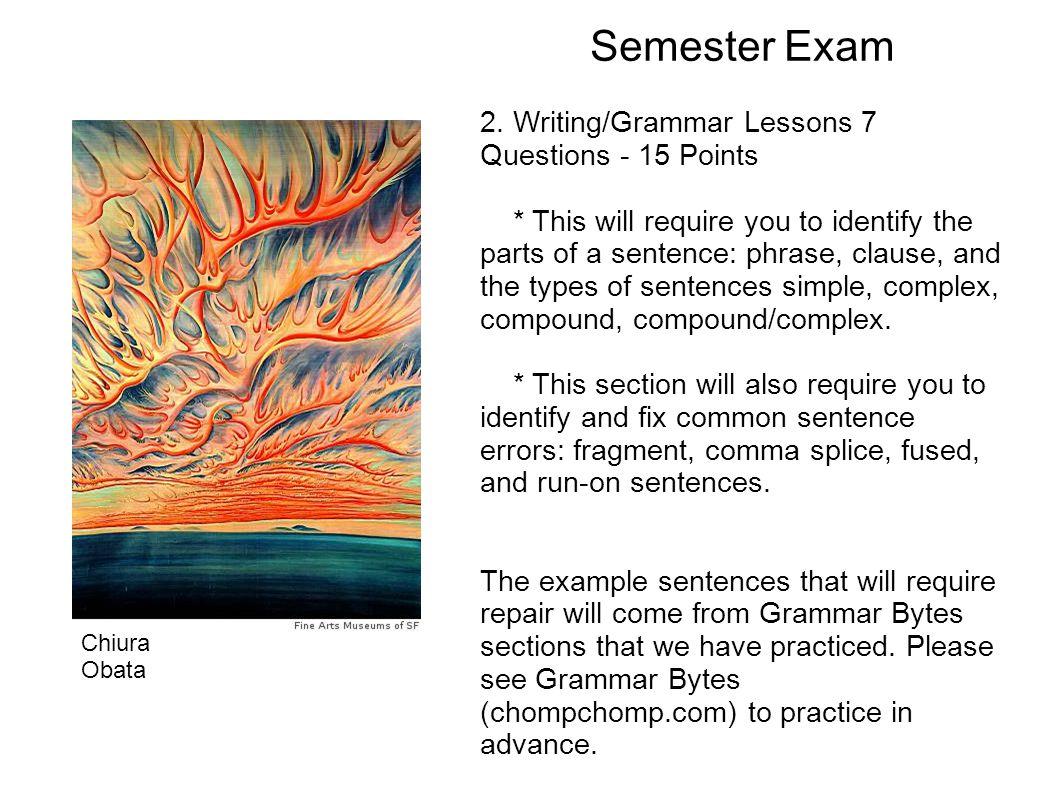 Semester Exam 2.