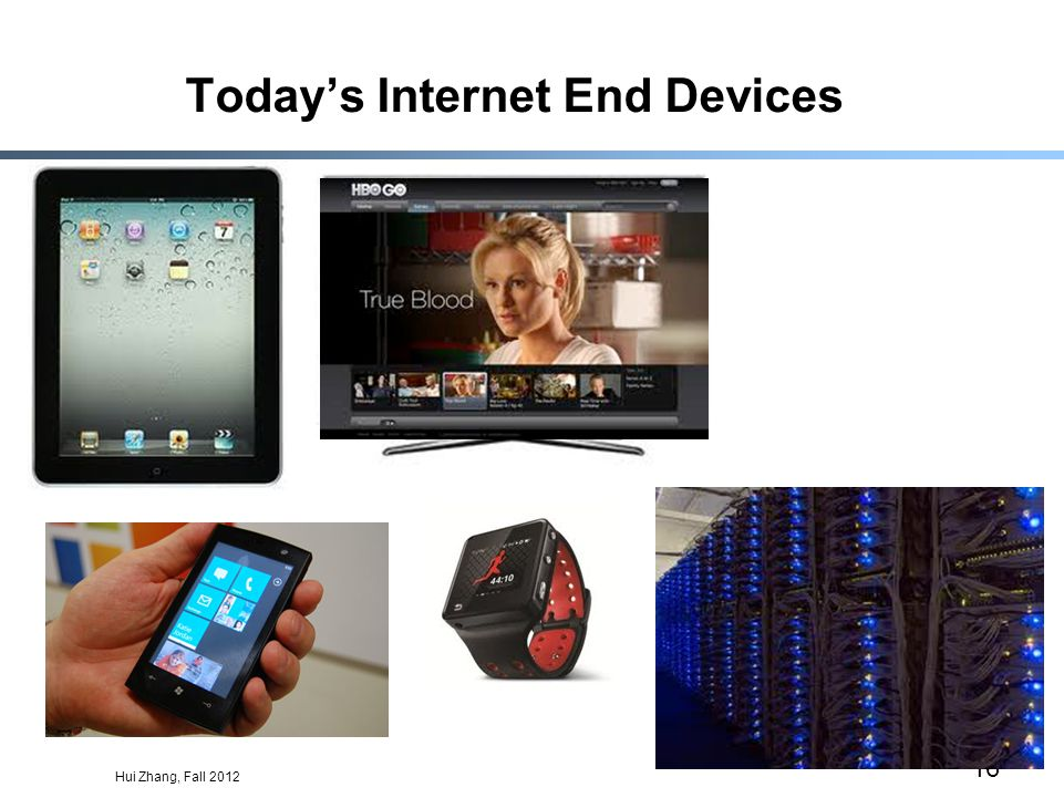 Hui Zhang, Fall 2012 16 Todays Internet End Devices