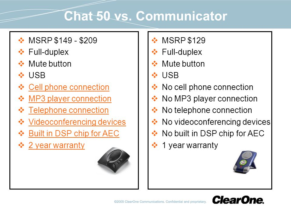 Chat 50 vs.