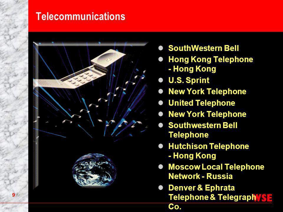 9 Telecommunications SouthWestern Bell Hong Kong Telephone - Hong Kong U.S.