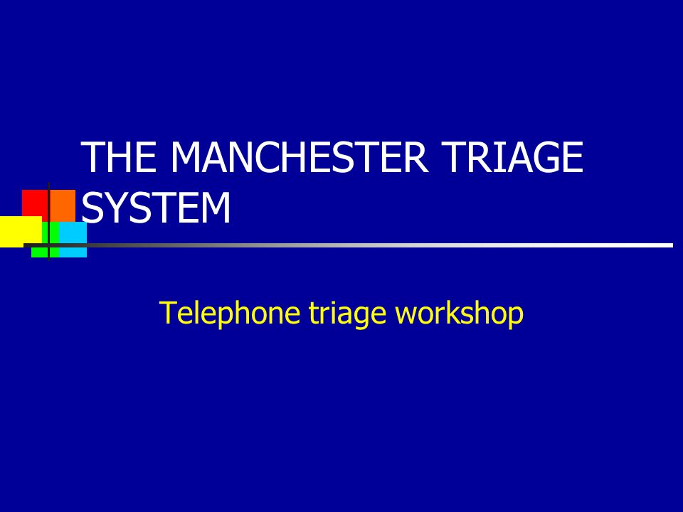 Copyright belongs to The Manchester Triage Group All rights reserved.