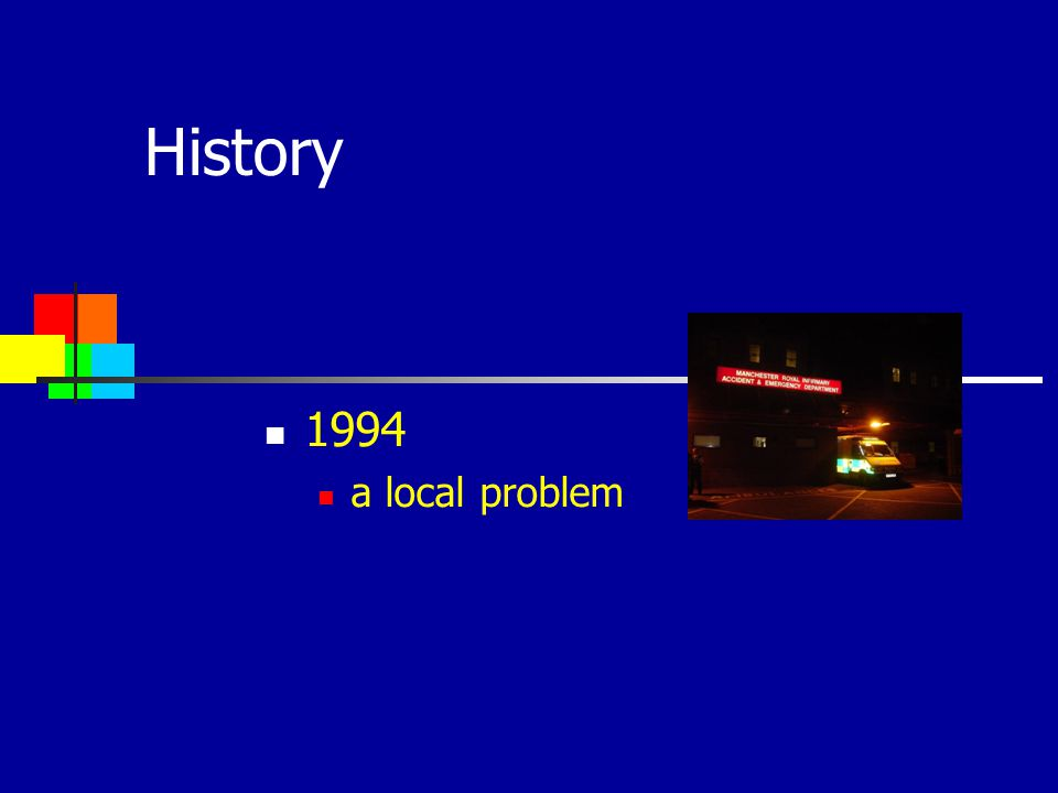 History 1994 a local problem