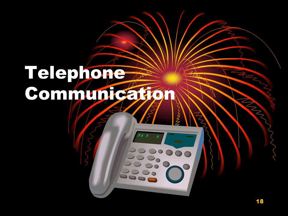 18 Telephone Communication
