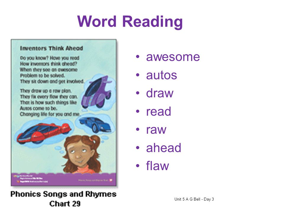 dawnthread When you come to a new word, look at all the letters in the word and think about its vowel sound. You may have to try more than one vowel s
