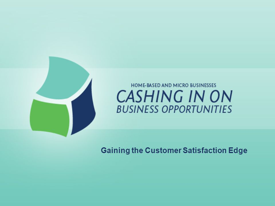 Gaining the Customer Satisfaction Edge