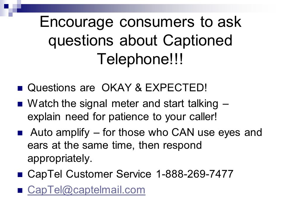Captioned Telephone via the INTERNET on the go or at home. Online – www.hamiltonwebcaptel.comwww.hamiltonwebcaptel.com www.clearcaptions.com - A free