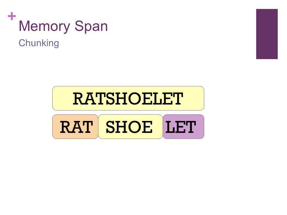 + Memory Span Chunking RATSHOELET