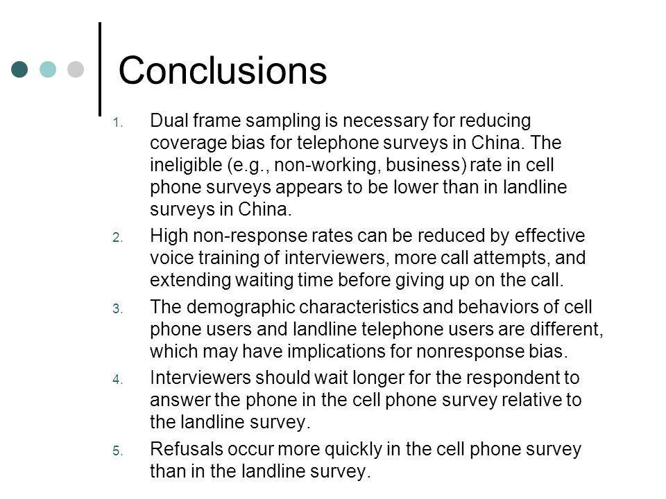 Conclusions 1.