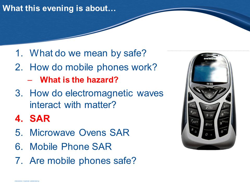 What this evening is about… 1.What do we mean by safe.