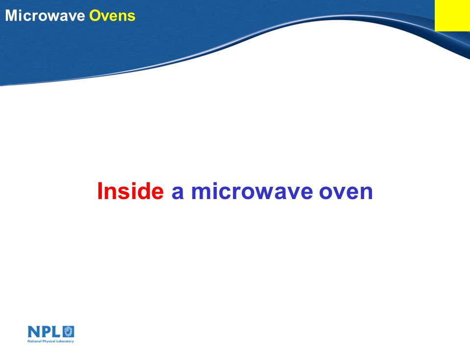 Inside a microwave oven