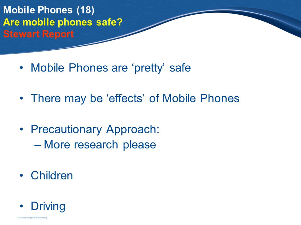 Mobile Phones (18) Are mobile phones safe.