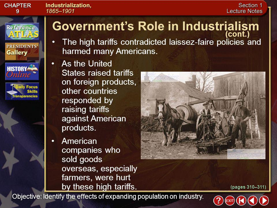 Section 1-14 The high tariffs contradicted laissez-faire policies and harmed many Americans.