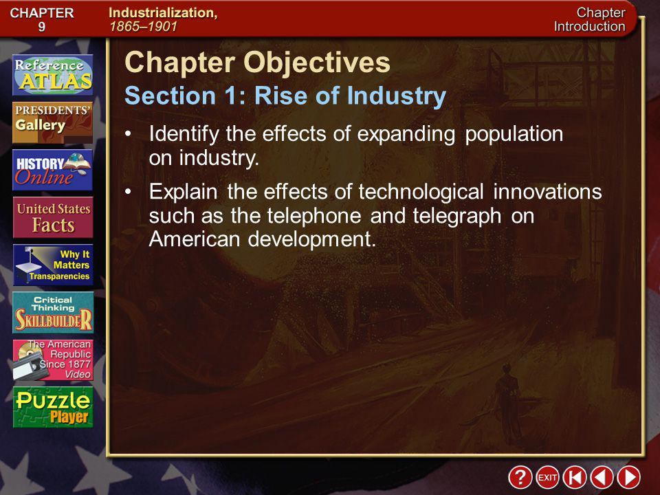Intro 2 Chapter Objectives Identify the effects of expanding population on industry.
