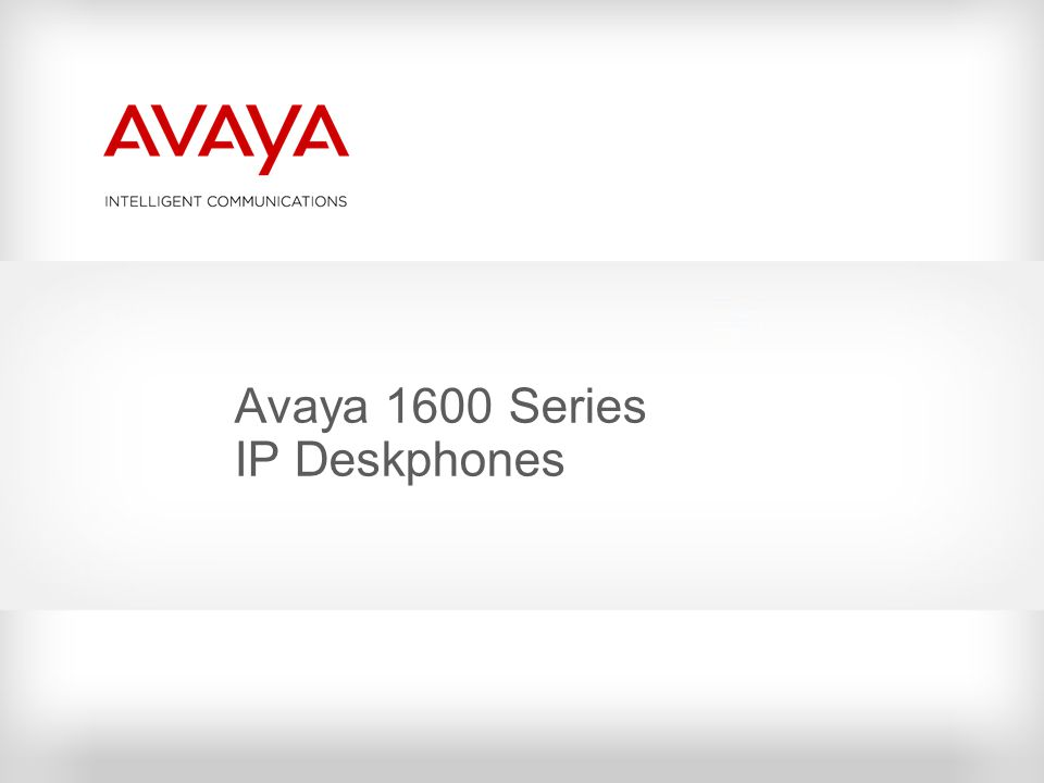 Avaya 1600 Series IP Deskphones
