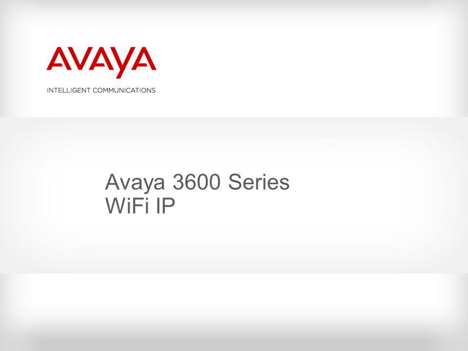Avaya 3600 Series WiFi IP