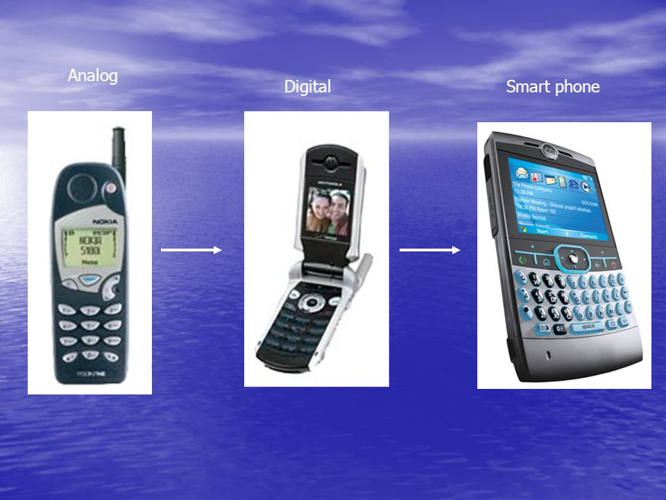 Analog DigitalSmart phone