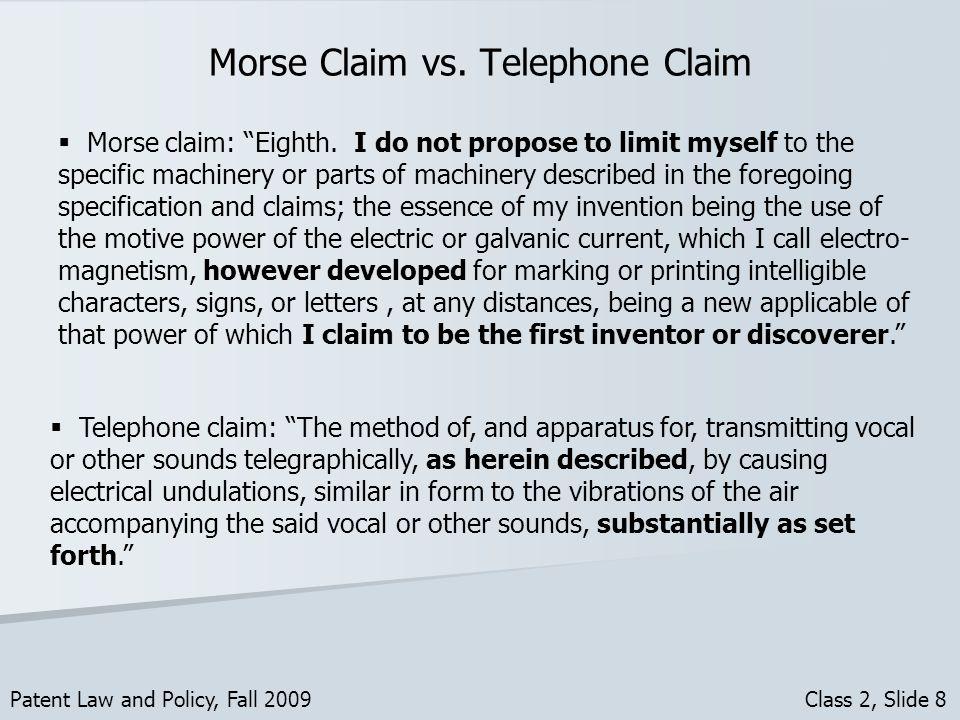 Morse Claim vs.