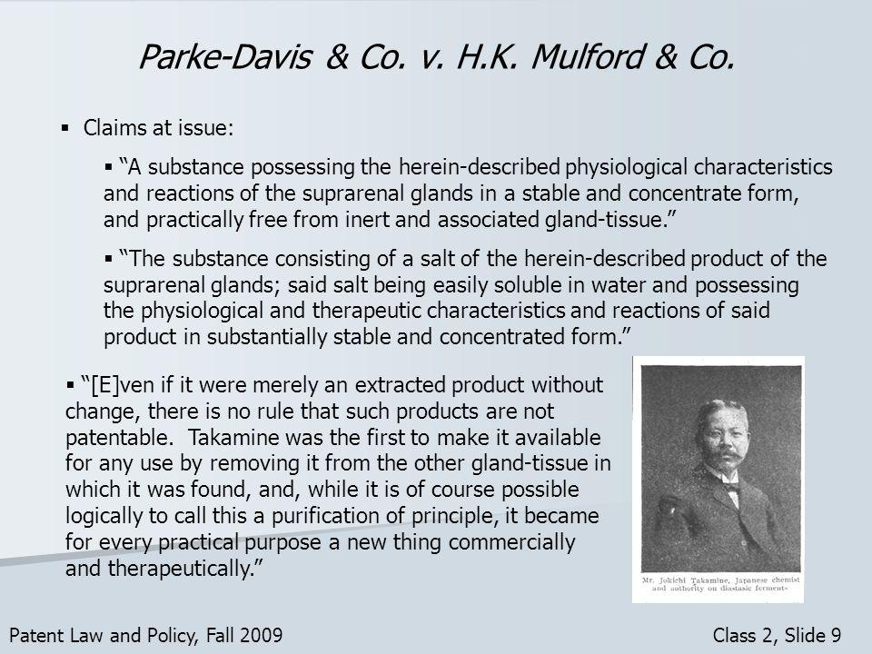 Parke-Davis & Co. v. H.K. Mulford & Co.