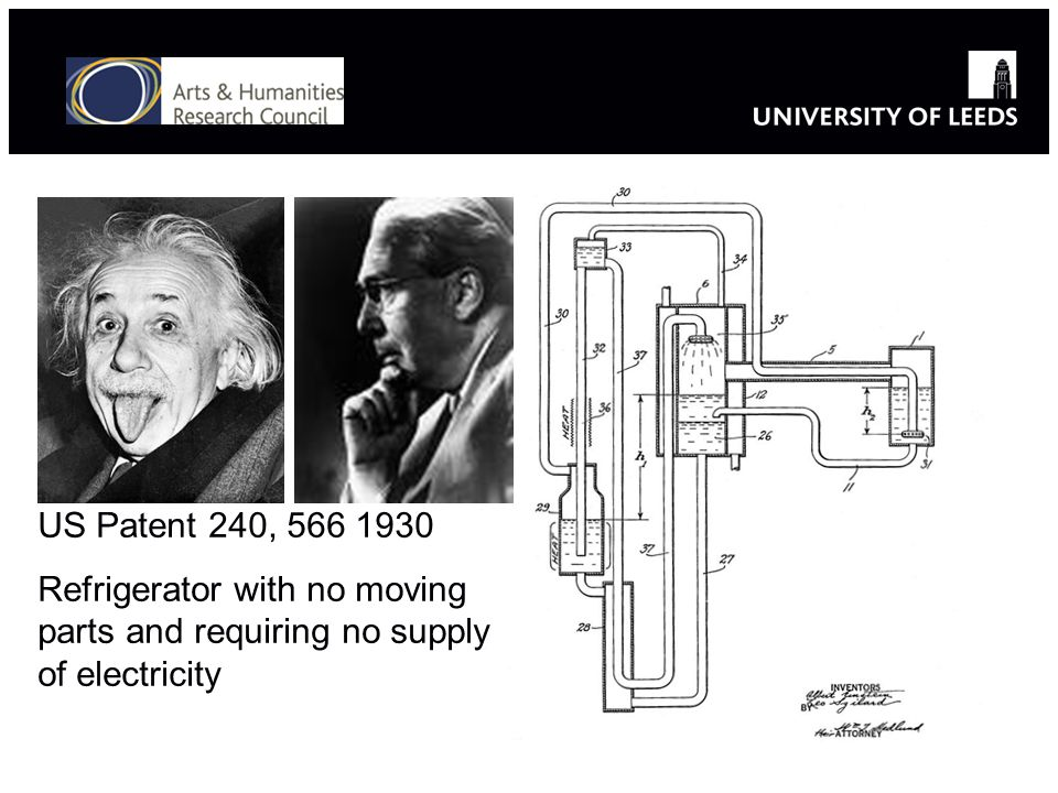 US Patent 240, 566 1930 Refrigerator with no moving parts and requiring no supply of electricity